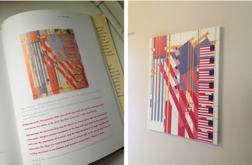 FLW Fourth of July rug turned canvas art